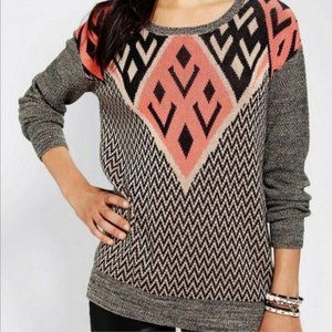 Urban Outfitters | Ecoté Tribal Knit Sweater